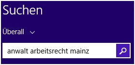 Abbildung 2: Suchbox in Windows 10